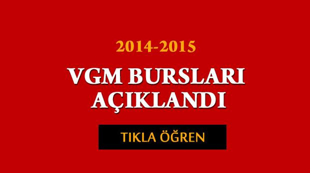 VGM bursları açıklandı 2015