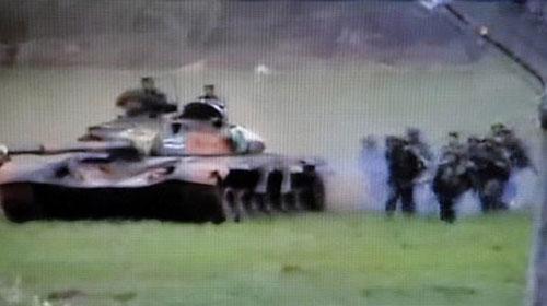 Suriye Ordusu Tanklarla Girdi