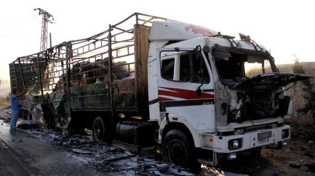 """Rusya ve Suriye: """"Yardım konvoyunu biz vurmadık"""""""