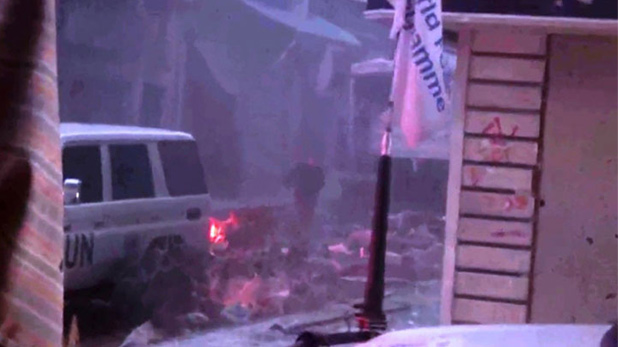 Humus'ta BM heyetine bombalı saldırı