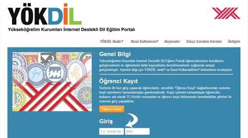 YÖK'ten internette ingilizce eğitimi