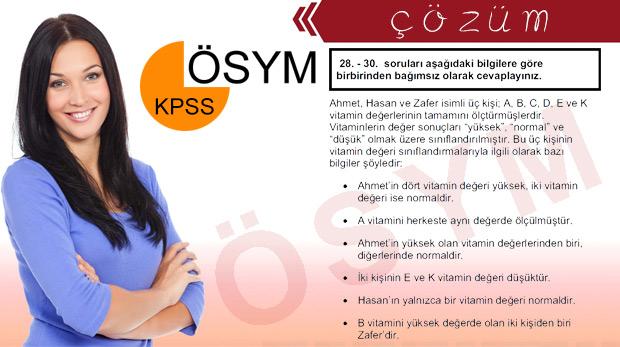 KPSS'de çok konuşulan 'vitamin' sorusu ve çözümü