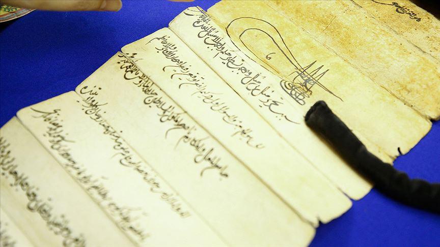Avrupa'daki en eski Osmanlı temliknamesi Berlin'de sergilendi