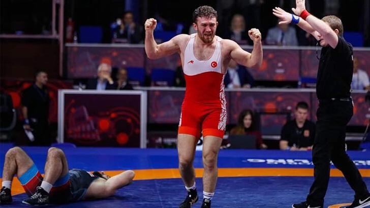 Avrupa Güreş Şampiyonası'nda Süleyman Karadeniz altın madalya kazandı