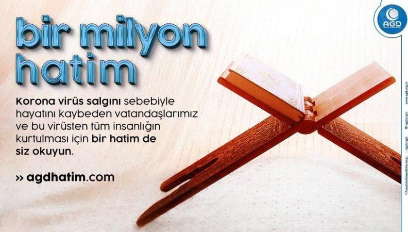 Anadolu Gençlik Derneğinden 1 Milyon Hatim
