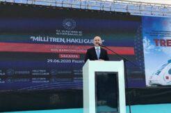 Bakan Karaismailoğlu: Milli elektrikli tren bu yıl sonunda raylara indirilecek