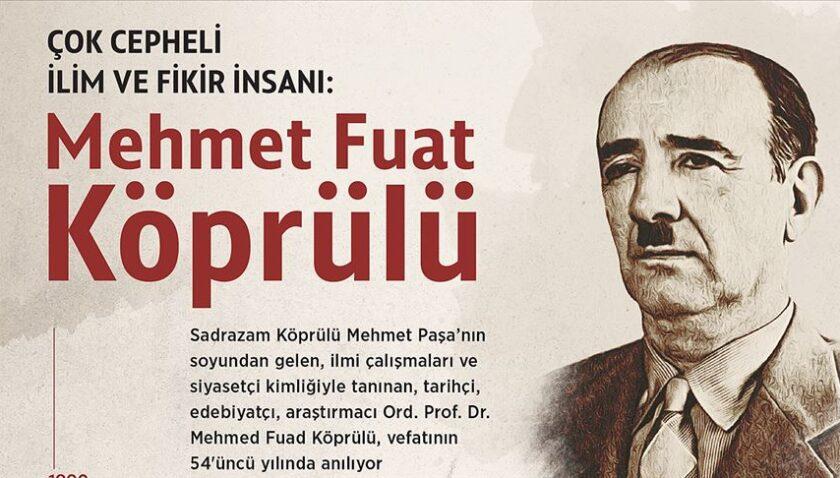 Çok cepheli ilim ve fikir insanı: Mehmet Fuad Köprülü