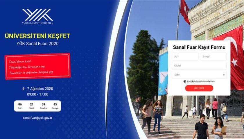 YÖK'ten üniversite tercihi yapacak adaylara 'Üniversiteni Keşfet YÖK Sanal Fuarı'